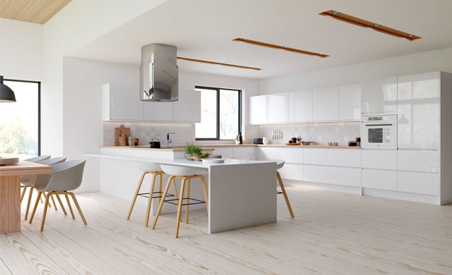 Manhattan Gloss White Kitchen, Tyrone Mid Ulster NI Gloss Kitchens