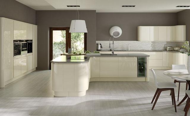 Strada Gloss Ivory, kitchen Tyrone Mid Ulster NI Kitchens