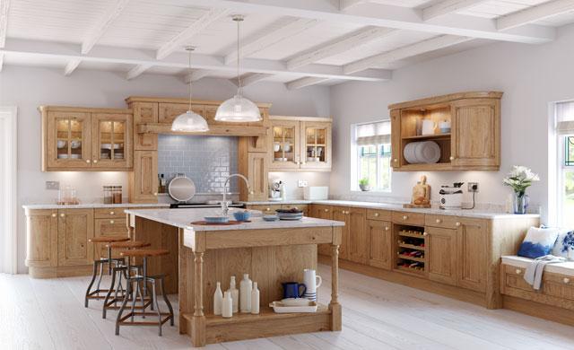 Avonlea Oak Kitchen, Tyrone Mid Ulster NI Traditional Kitchens