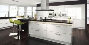 Astro Gloss White Kitchen, Tyrone Mid Ulster NI Gloss Kitchens