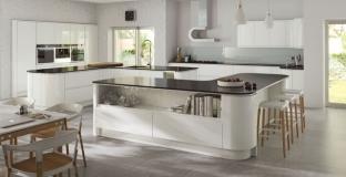 Strada Gloss White kitchen, Tyrone NI Gloss Kitchens