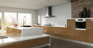 Ultra Gloss Copperleaf Kitchen, Tyrone Mid Ulster NI Gloss Kitchens