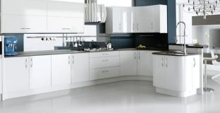 Ultra High Gloss White kitchen, Tyrone Mid Ulster NI Gloss Kitchens