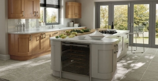 Windsor Shaker Oak & painted stone kitchen, Tyrone Mid Ulster NI Painted Kitchens