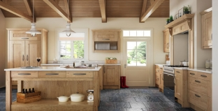 Clonmel Knotty Oak kitchen, Tyrone Mid Ulster NI Traditional Kitchens